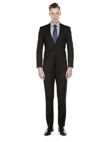 Mens Skinny Slim Suit Black