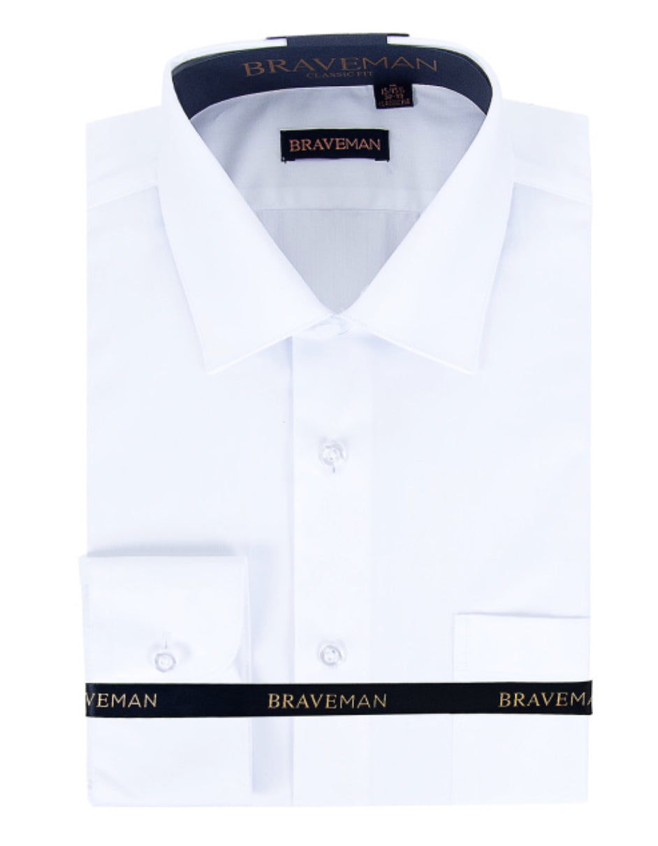 Mens Slim Fit Dress Shirt in White
