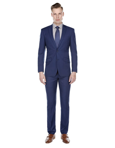 Mens Slim Modern Suit Indigo Blue