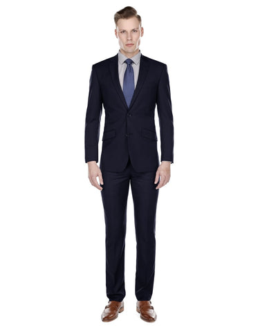 Mens Slim Modern Suit Navy Blue