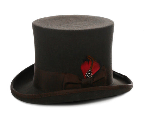Mens Dress Tophat in Brown