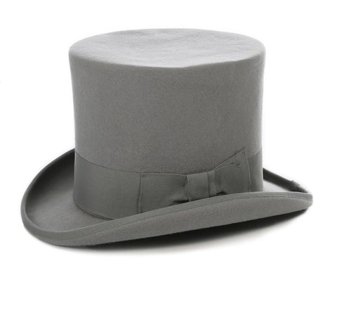Mens Dress Tophat in Grey