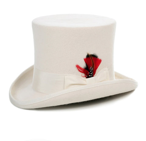 Mens Dress Tophat in Ivory | Off White