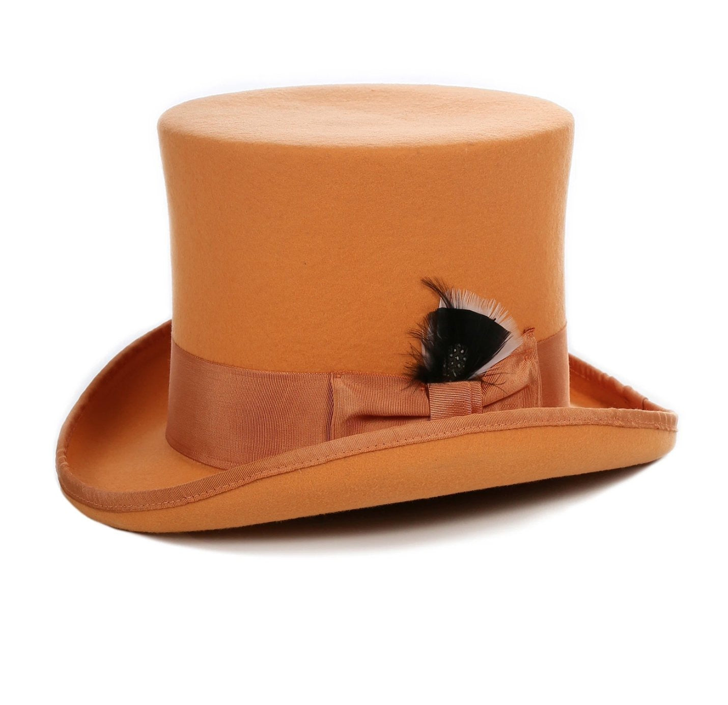 Mens Dress Tophat in Orange