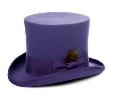 Mens Dress Tophat in Violet Purple