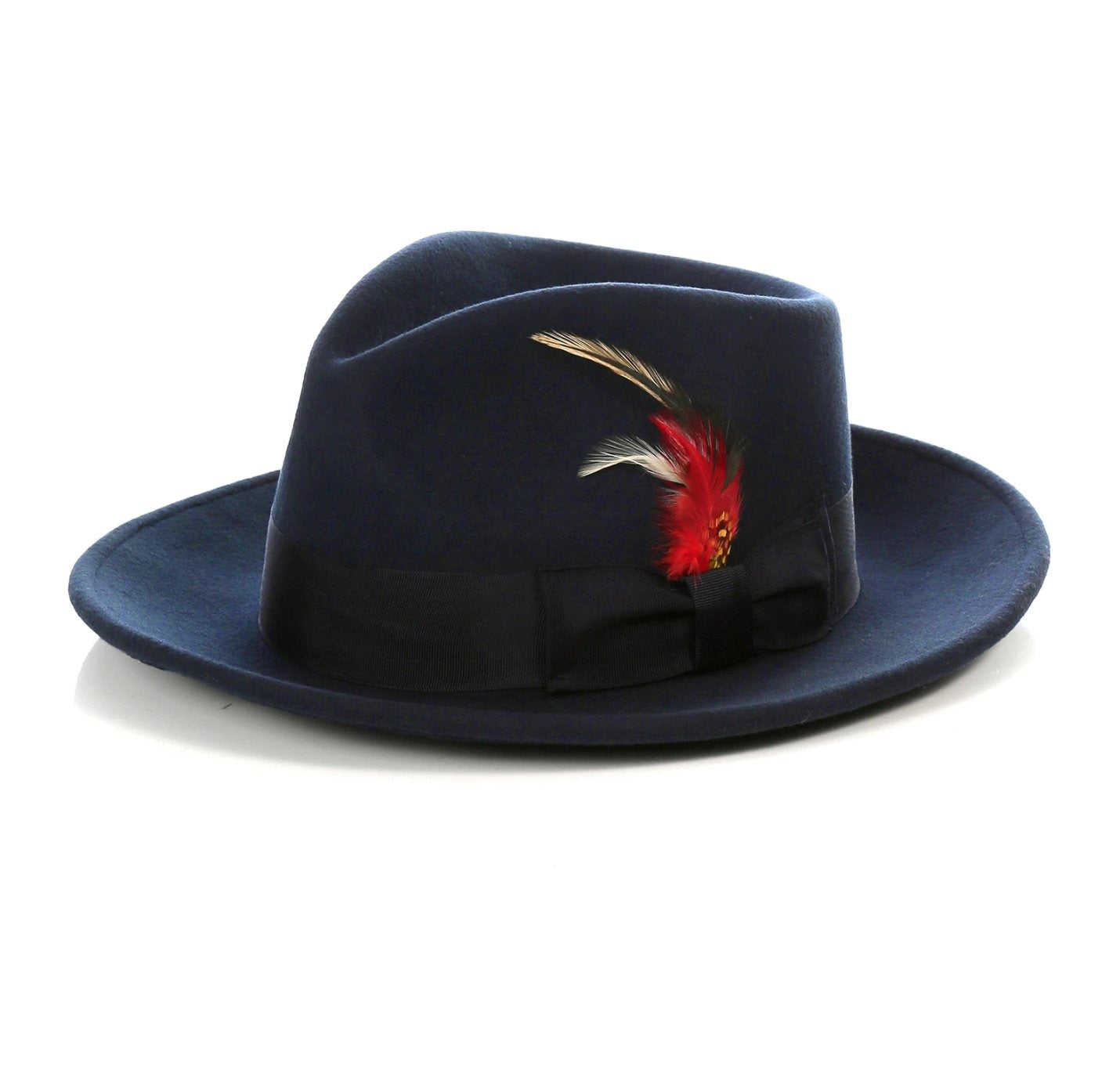 Mens Gangster Untouchable Fedora Hat in Navy