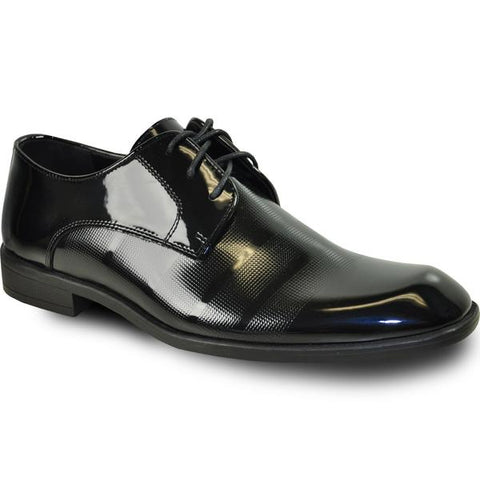 VANGELO Men Dress Shoe ROCKEFELLER Oxford Formal Tuxedo for Prom & Wedding Black Patent