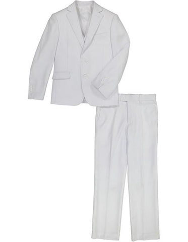 Little Boys and Toddlers Vested Suit in White