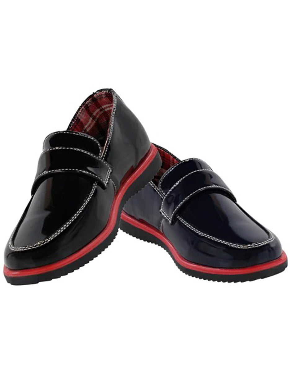 Little Boys and Toddler Dress Shoes in  Black/Navy