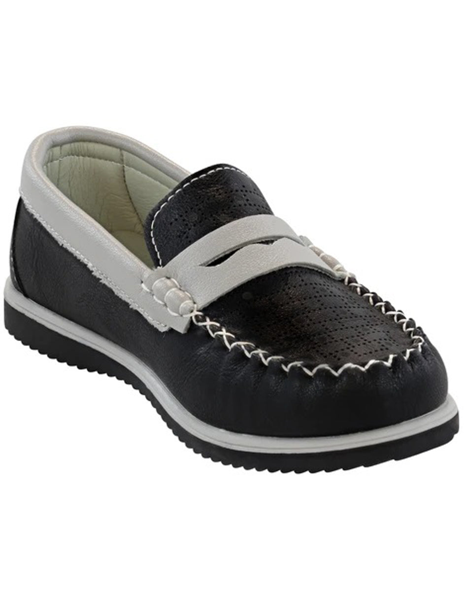 Little Boys and Toddler Dress Shoes in Black/White