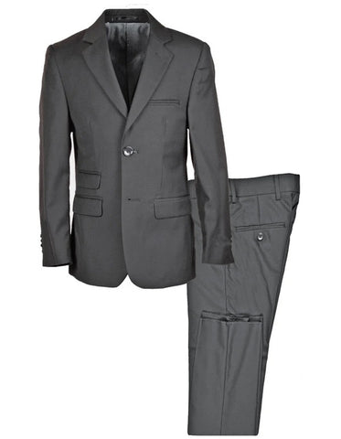 Boys 2 Button Peak Lapel Tuxedo in Charcoal Grey