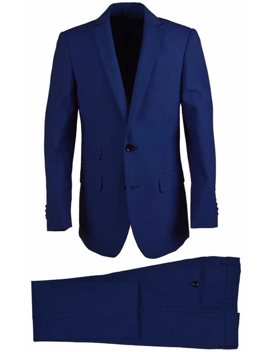 Little Boys and Toddlers Wool Blend Husky Suit in Cobalt Blue