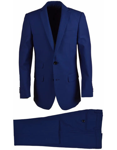 Little Boys and Toddlers Vested Suit in Cobalt Blue