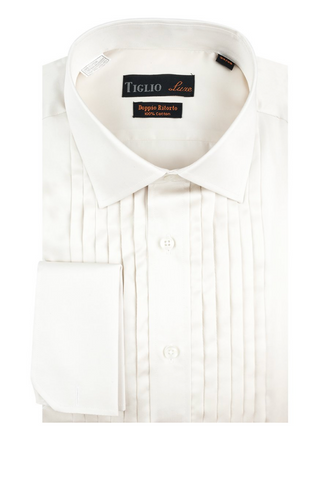 Mens Tiglio Soft White Laydown Tuxedo Shirt