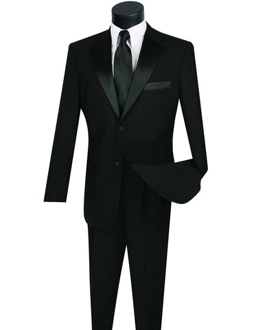 Mens Affordable 2 Button Classic Tuxedo in Black
