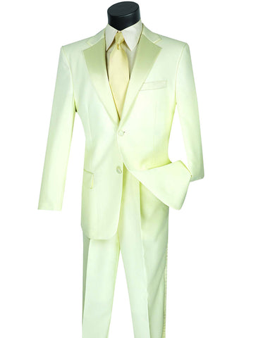 Mens Affordable 2 Button Classic Tuxedo in Ivory