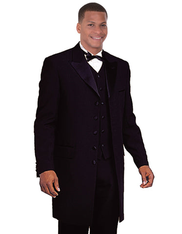 Mens Long Tuxedo Zoot Suit in Black