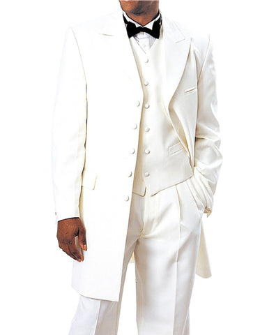 Mens Long Tuxedo Zoot Suit in Ivory