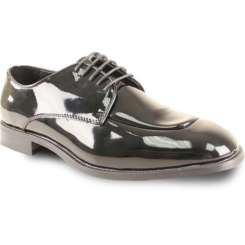 Men Dress Shoe TADI Oxford Formal Tuxedo for Prom & Wedding Black Patent
