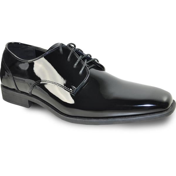 VANGELO Men Dress Shoe Oxford Formal Tuxedo for Prom & Wedding Black Patent