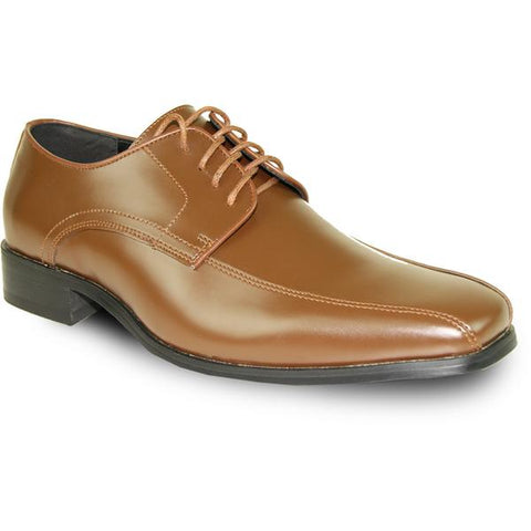 VANGELO Men Dress Shoe Oxford Formal Tuxedo for Prom & Wedding Light Brown