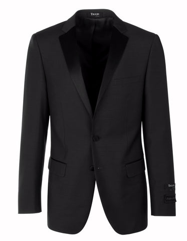 Mens 2 Button Tiglio Notch Tuxedo in Charcoal Grey