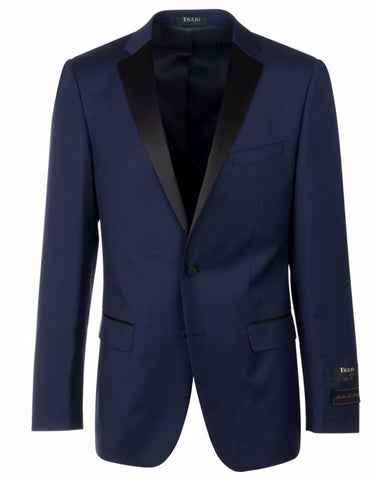 Mens 2 Button Tiglio Notch Tuxedo in Navy Blue