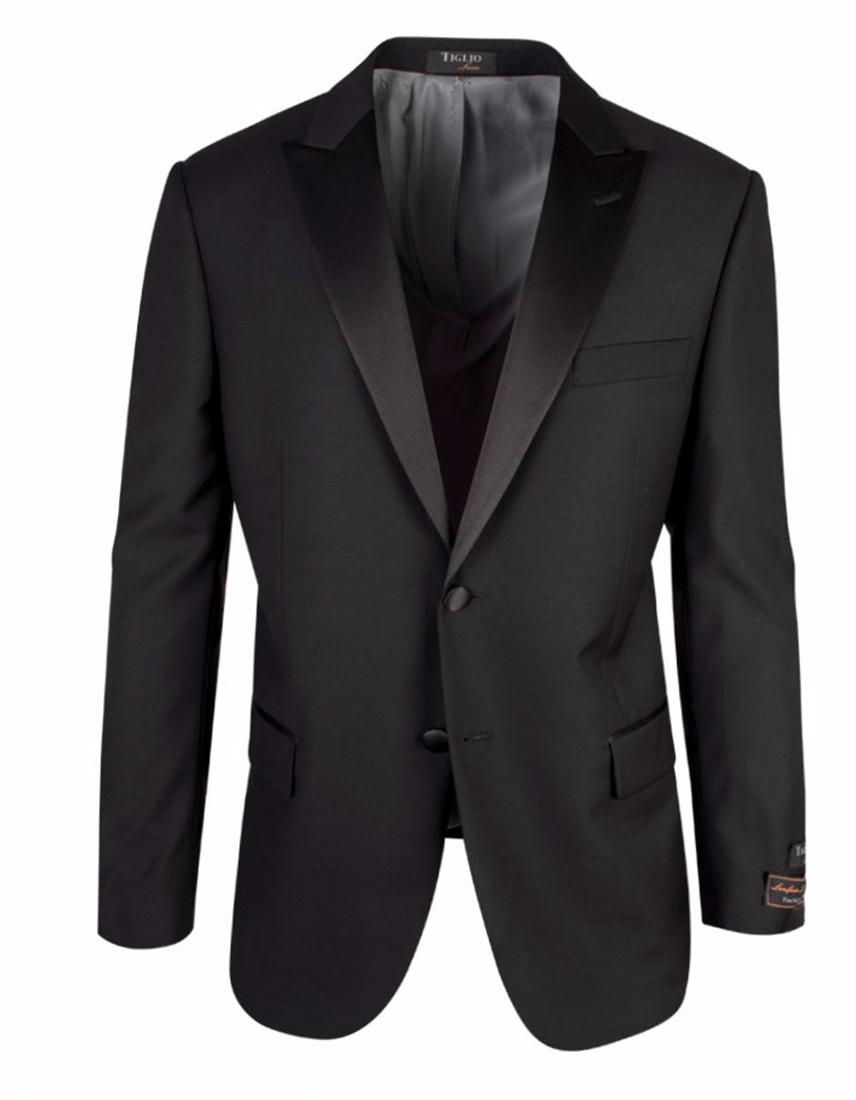 2 Button Tiglio Peak Tuxedo in Black