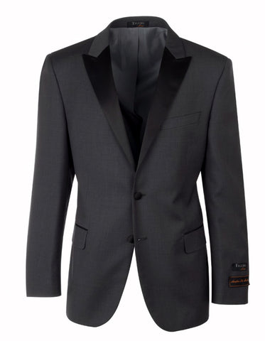 2 Button Tiglio Peak Tuxedo in Charcoal Grey