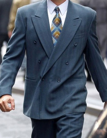 Mens Double Breasted Charcoal Wolf of Wall Street Suit