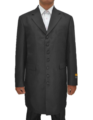 Mens Classic Vested Zoot Suit in Black