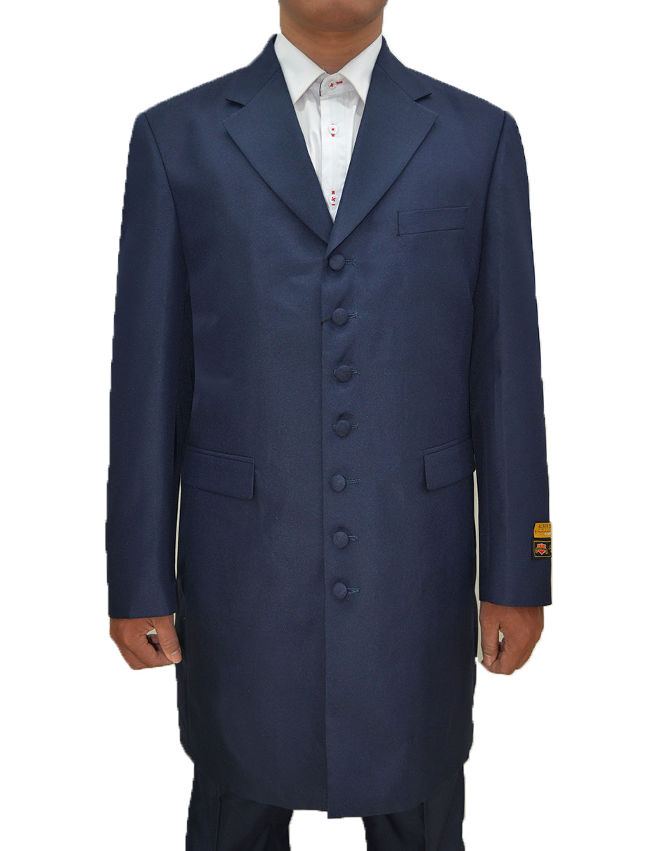 Mens Classic Vested Zoot Suit in Navy