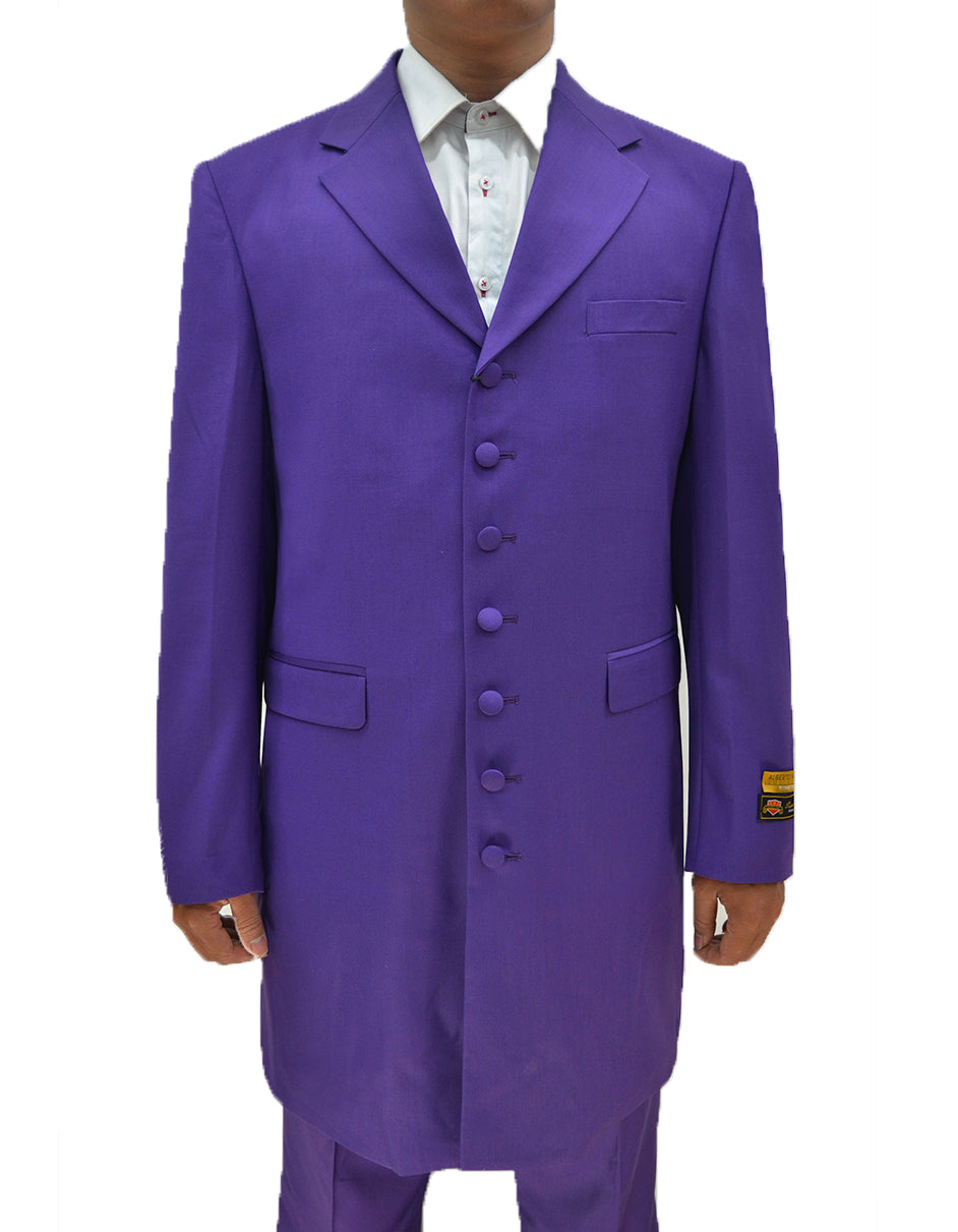 Mens Classic Vested Zoot Suit in Purple