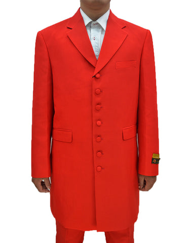 Mens Classic Vested Zoot Suit in Red