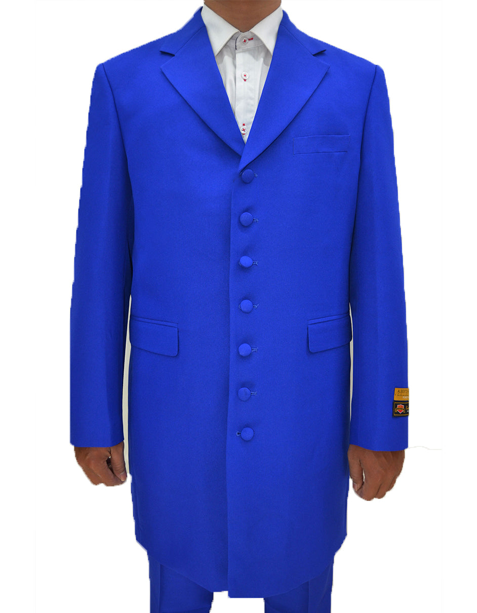 Mens Classic Vested Zoot Suit in Royal Blue