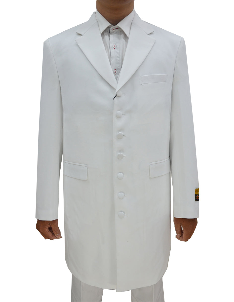 Mens Classic Vested Zoot Suit in White