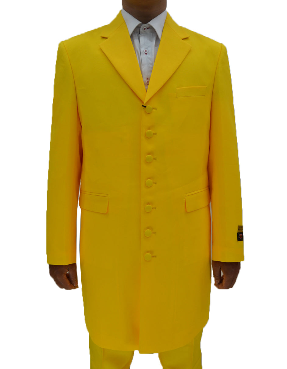 Mens Classic Vested Zoot Suit in Yellow