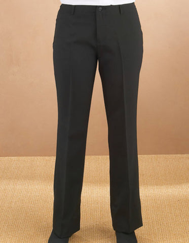 Mens Flat Front Slim Fit Tuxedo Pant in Black