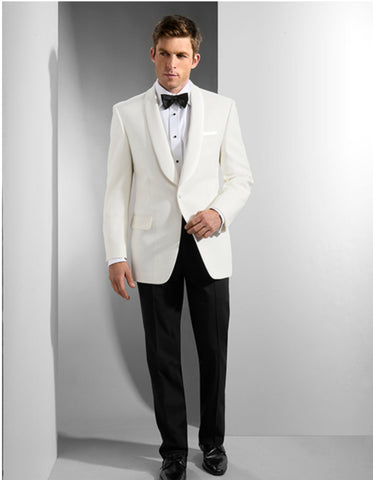 Mens Ike Behar Traditional Shawl Dinner Jacket in Ivory