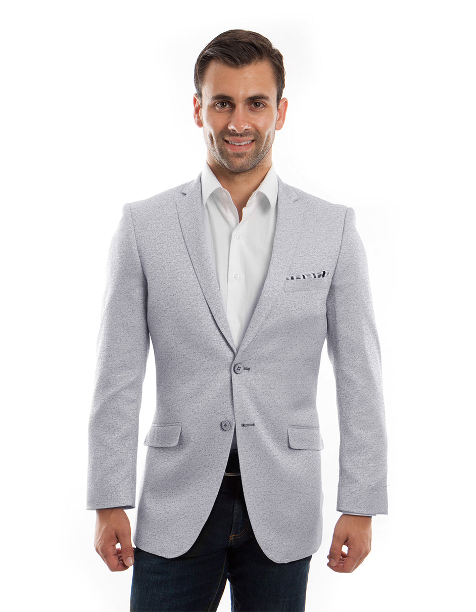 Mens Grey Shiny Sparkle Blazer