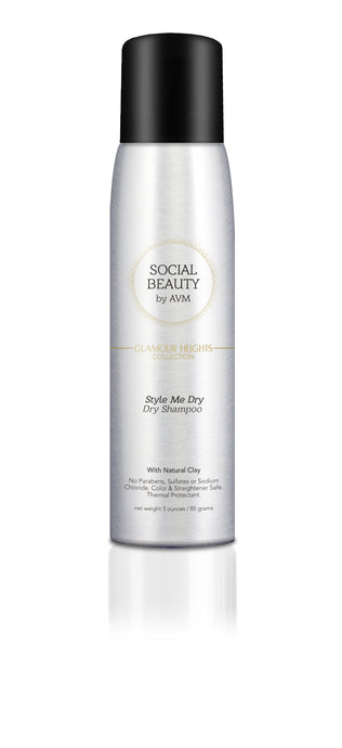 SOCIAL BEAUTY by AVM - Style Me Dry - Dry Shampoo. 3 ounces / 85 grams Store