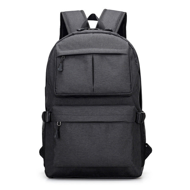 Usb Laptop Backpack Women Canvas Large Capacity Schoolbags Student Book Bags School