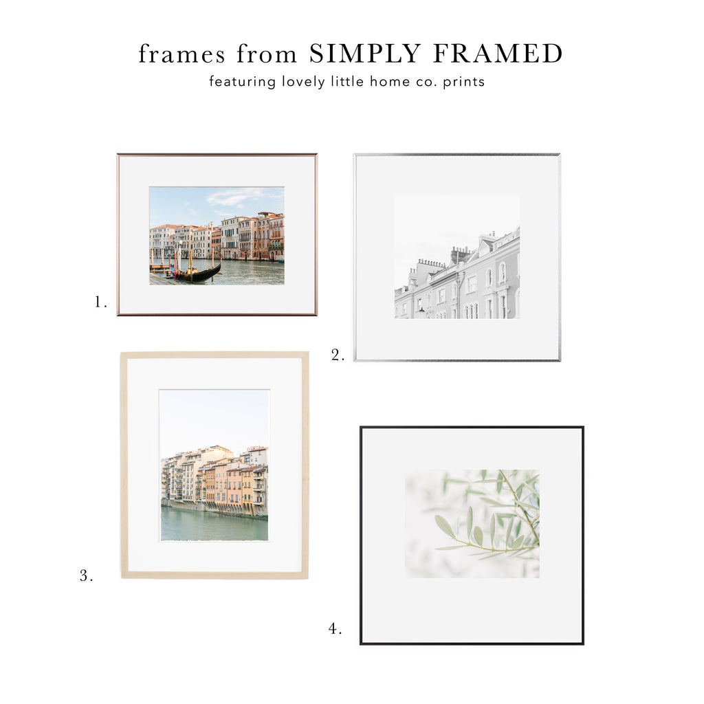 how to choose frames for your wall art photo