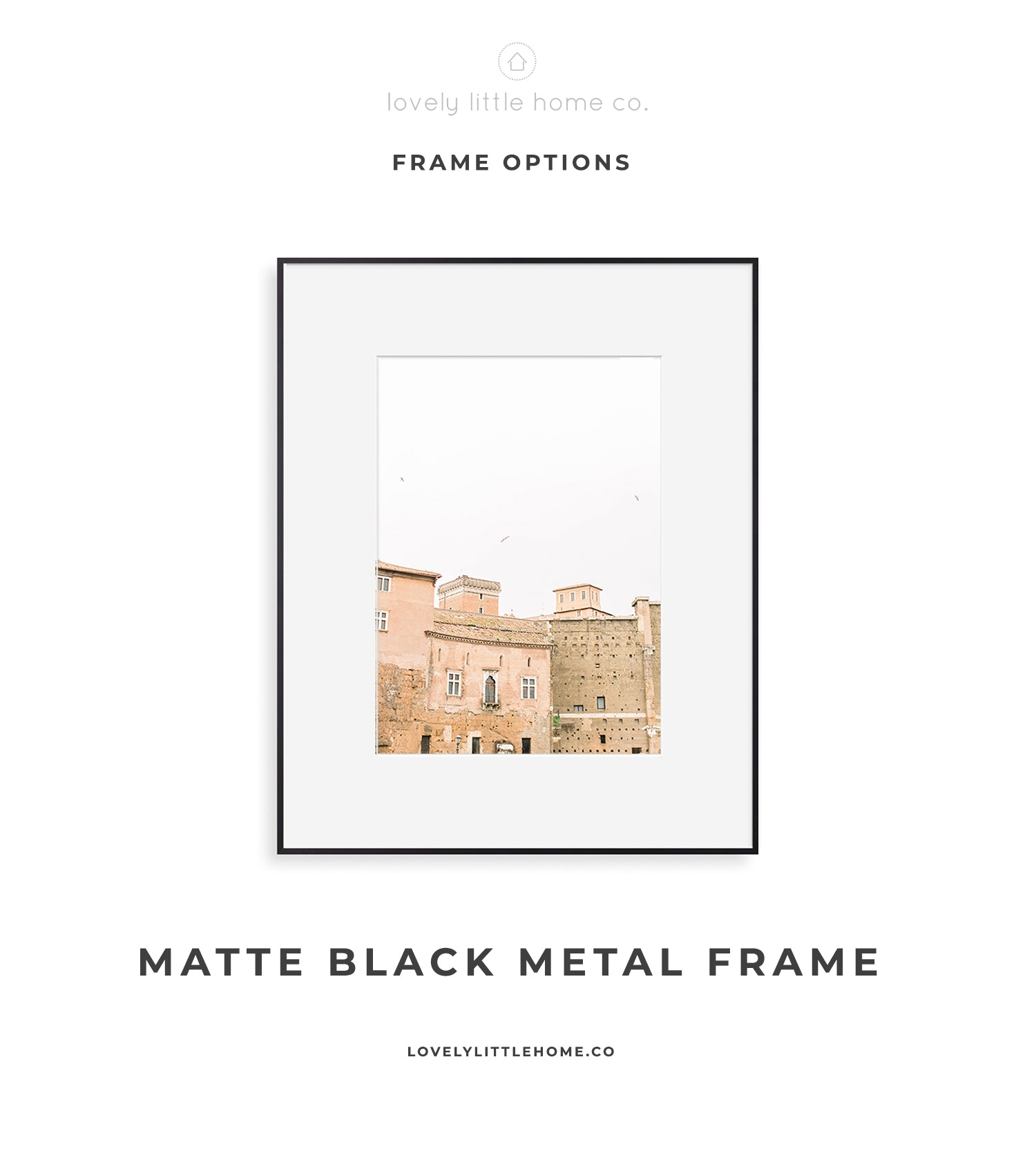 matte black minimalist wall art home decor gallery wall frame photo