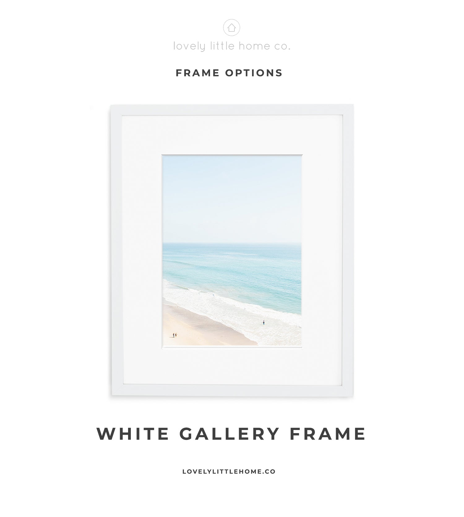fine art photography white gallery frame