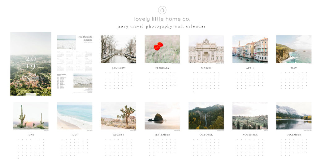 2019 travel photography wall calendar photo