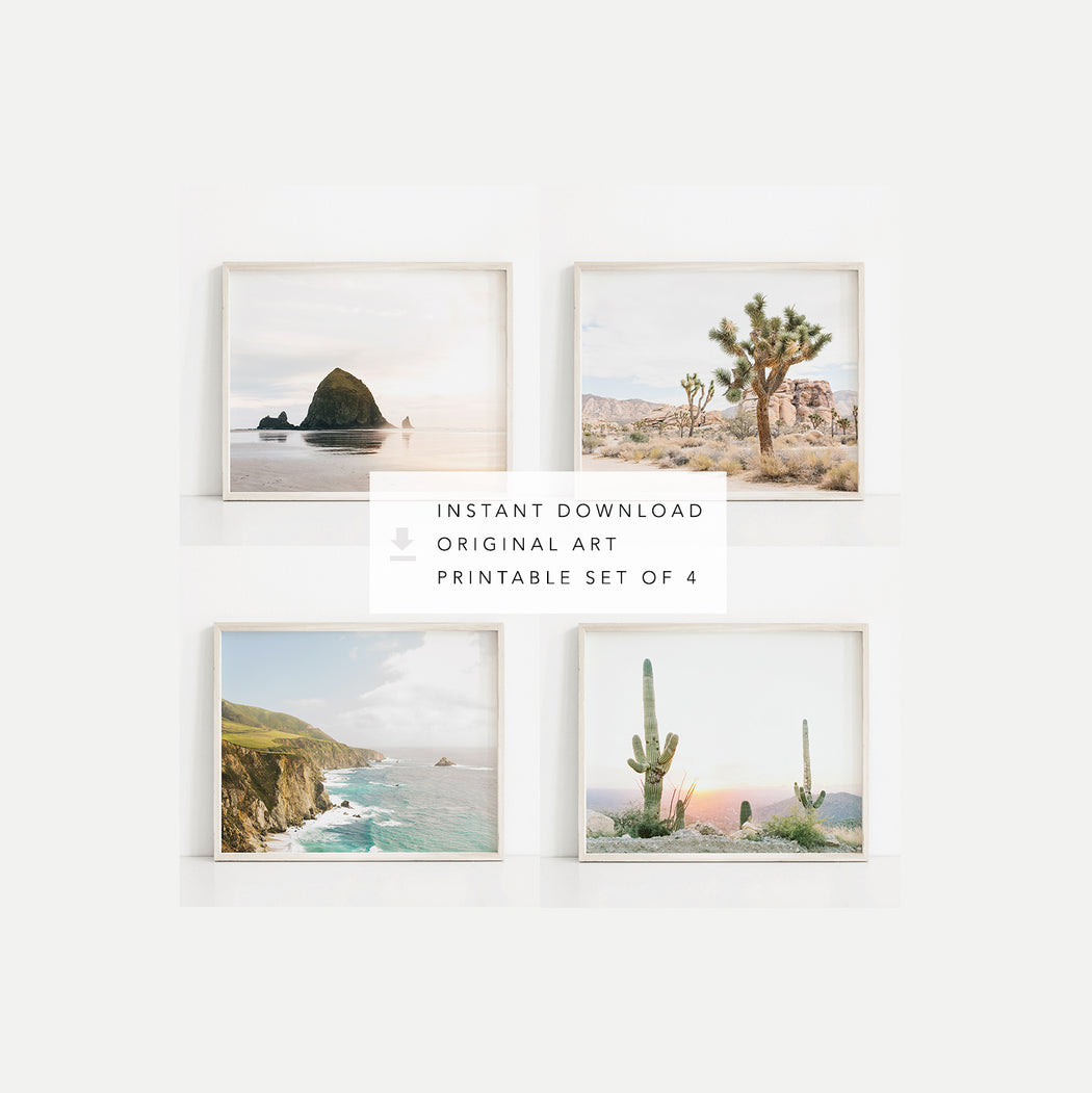 landscape photography wall art print set digital download photo