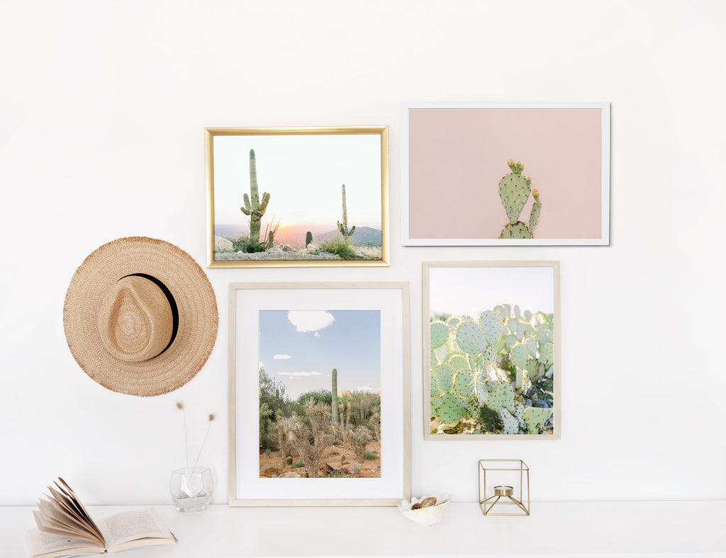 arizona desert cactus gallery wall print set of four