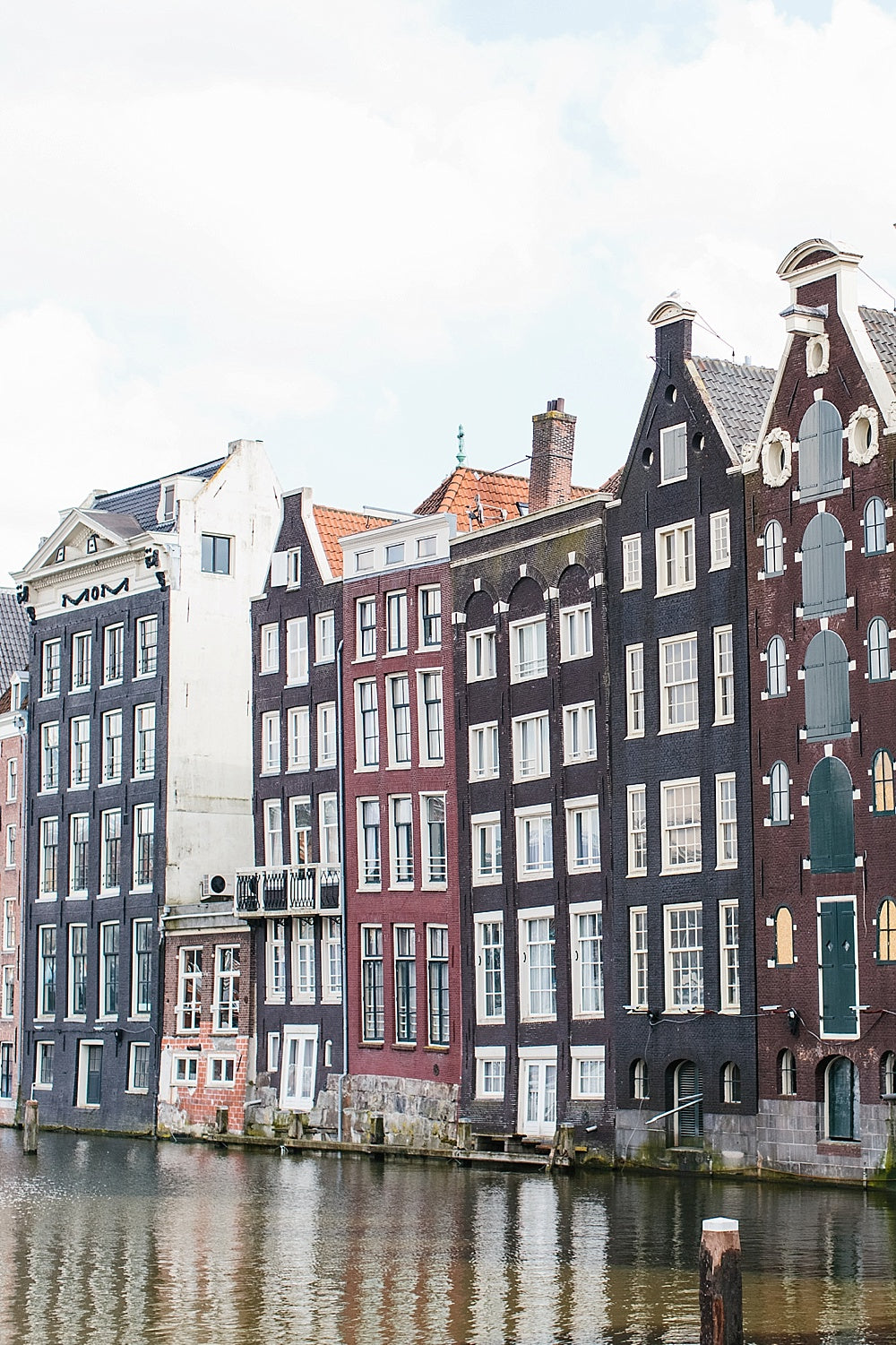 amsterdam canal homes print