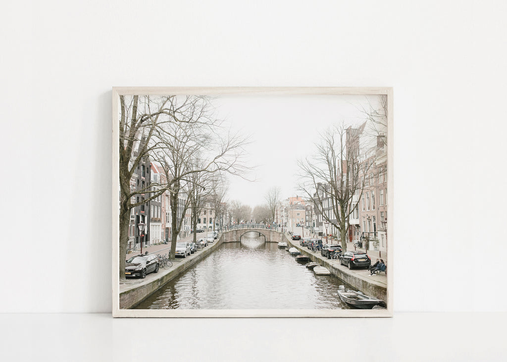 amsterdam canal landscape print